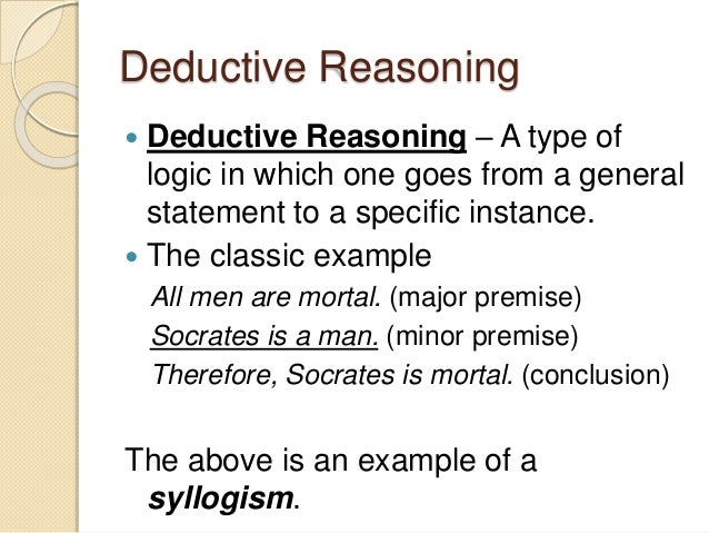 Image result for deductive reasoning