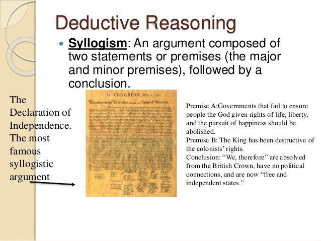 Valid and Sound   A deductive argument is valid if the  premises logically lead to the  conclusion   A deductive argumen...
