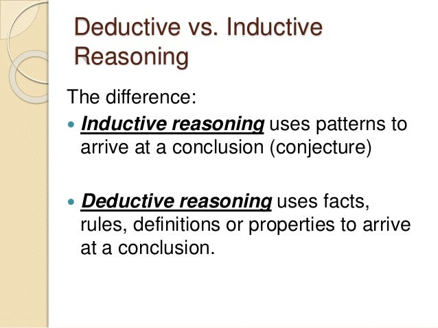 deductive and inductive methods of research essay