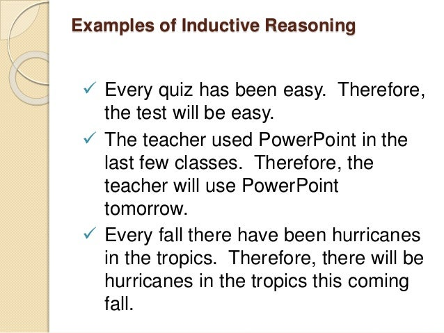 Inductive Deductive and Fallacies – Inductive Reasoning Worksheet
