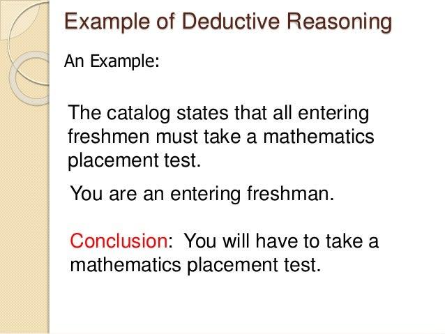 deductive argument essay topics