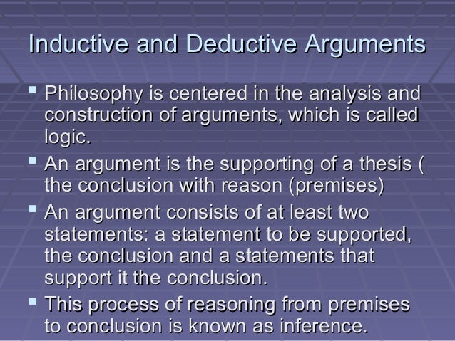 construct a deductive argument that is