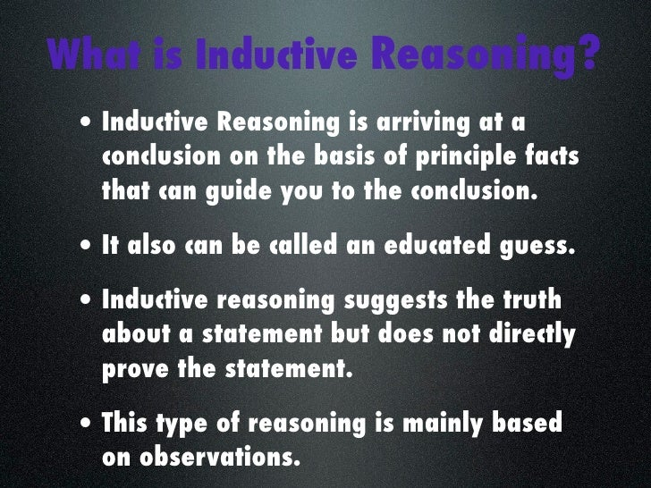 Inductive Reasoning Powerpoint