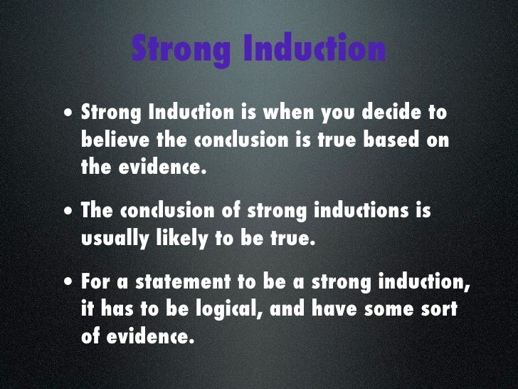 "fallacies of weak induction Fallacies - weak induction homework • review: • fallacies » pp 103-105, §41 ""fallacies in general"" » pp 121-131, §43 ""fallacies of weak induction"" • inductive argumentation » analogical reasoning, eg, ex 84 » causal argumentation, eg, 83b » inductive generalization, eg, 82b • read for next class – pp 106."