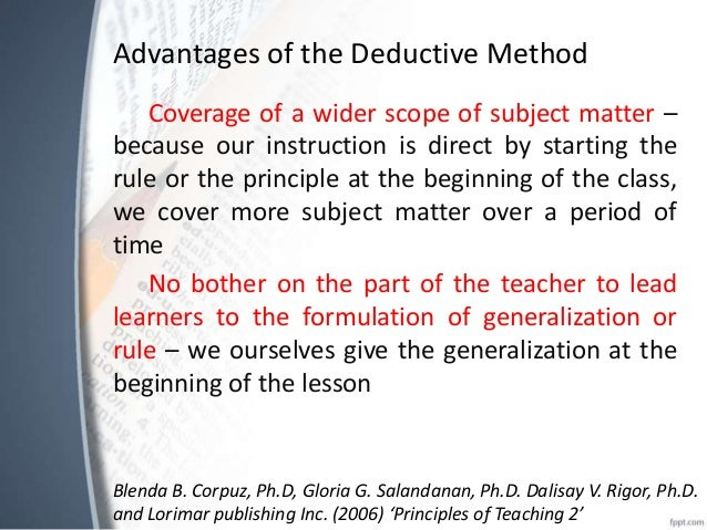inductive vs deductive learning