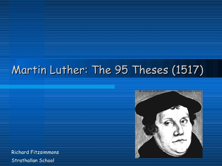 martin luther the 95 thesis