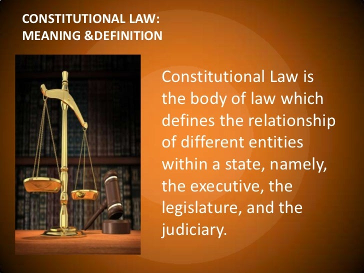 constitutional law 1 The constitutional law reporter is fully dedicated to offering everything on  constitutional law  missouri inhibits prohibition of bills of credit under article  1.