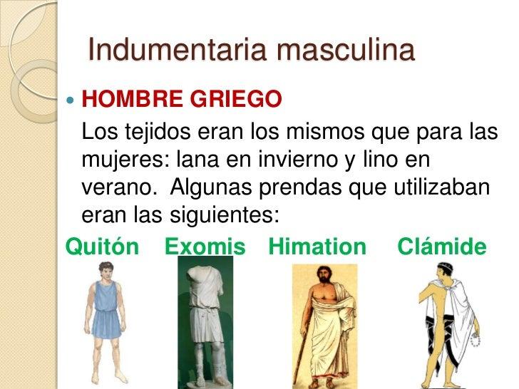 Indumentaria griega y romana