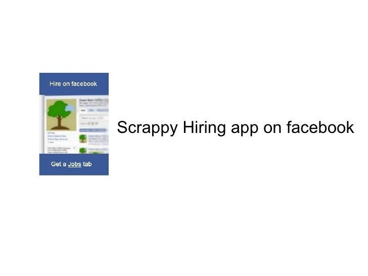 Scrappy Hiring app on facebook