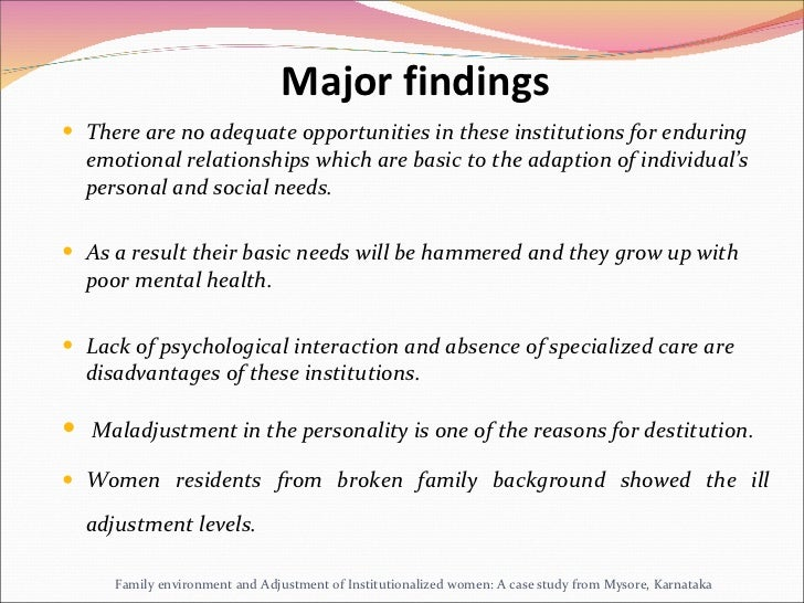 family environment and adolescent adjustment dissertation Adolescent adjustment problems and school counselling  the challenges within the family family environment and the  of adjustment where adolescents face .