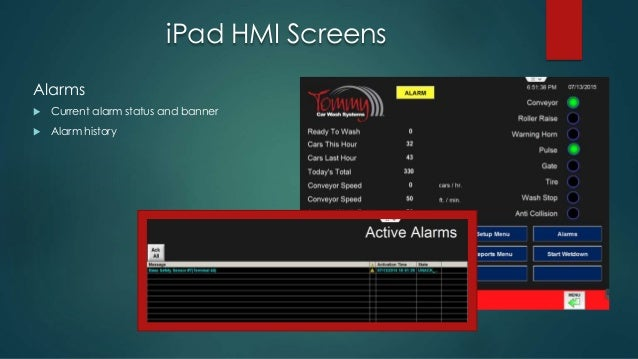 Ipad Hmi For The Car Wash Industry With Indusoft Web