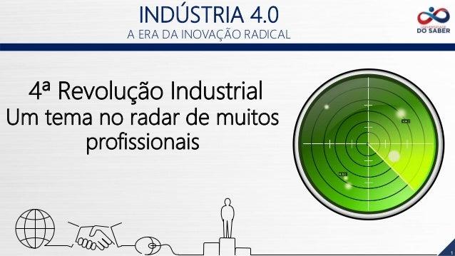 1 4ª Revolução Industrial Um tema no radar de muitos profissionais INDÚSTRIA 4.0 A ERA DA INOVAÇÃO RADICAL