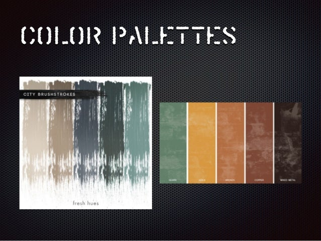 industrial color palette design decoration