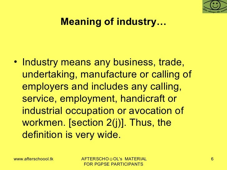 meaning of industrial disputes pdf