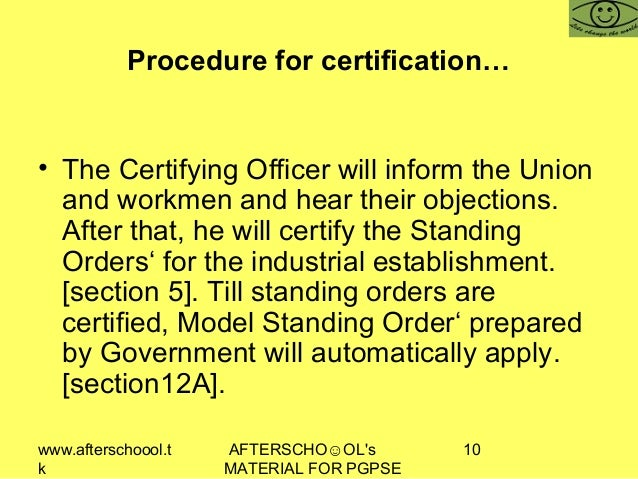 www.afterschoool.t k AFTERSCHO☺OL's MATERIAL FOR PGPSE 10 Procedure for certification… • The Certifying Officer will infor...