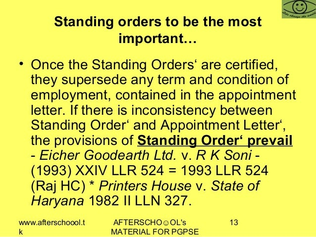 www.afterschoool.t k AFTERSCHO☺OL's MATERIAL FOR PGPSE 13 Standing orders to be the most important… • Once the Standing Or...
