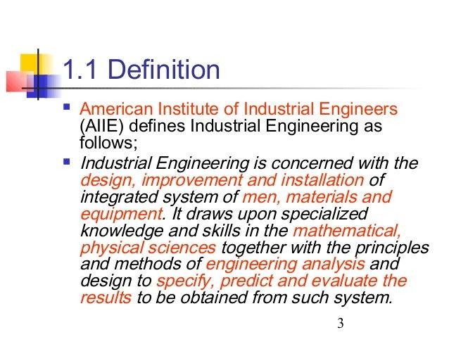 industrial engineering definition abetting