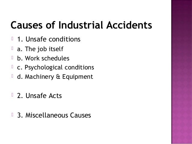 Causes of Workplace Accident Essay Sample