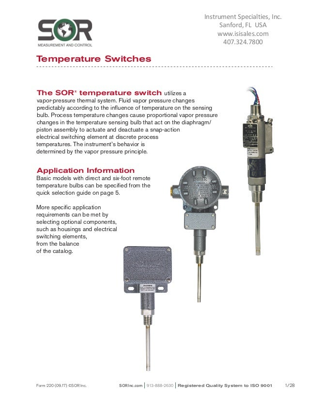 industrial temperature switches for process control rh slideshare net Industrial Components and Technology JC's Industrial Components