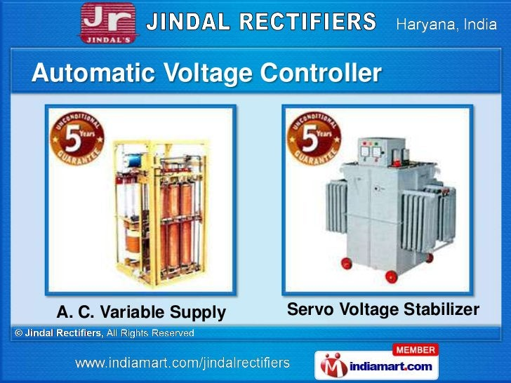 Automatic Voltage Controller  A. C. Variable Supply   Servo Voltage Stabilizer