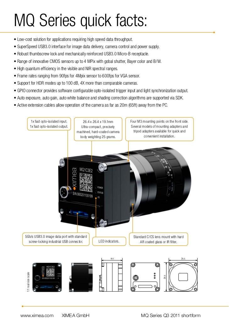 Industrial USB 3 Camera by XIMEA
