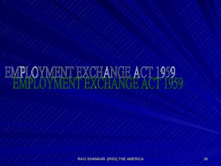 EMPLOYMENT EXCHANGE ACT 1959