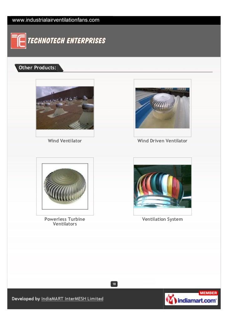 Technotech Enterprises Surat Axial Flow Fan