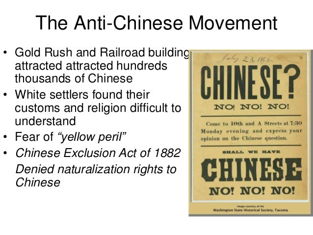 an examination of the chinese exclusion act The chinese exclusion act of 1882 (landmarks of the american mosaic) ebook: john soennichsen: amazoncombr: loja kindle.
