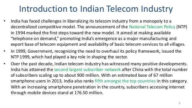 telecommunications sector essay Essay examples telecom sector in india  telecommunications is the transmission of data and information between computers using a communications link such as a.