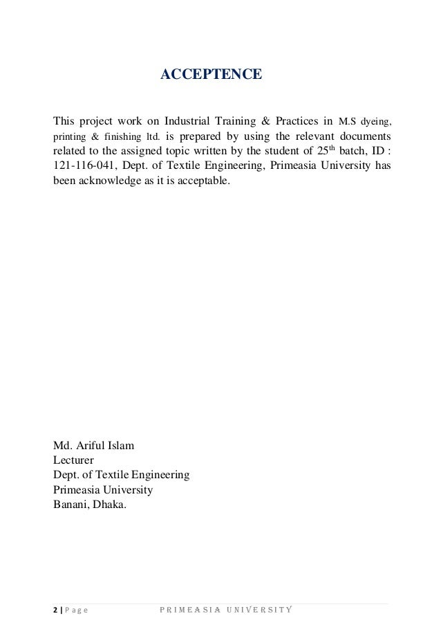 free industrial attachment trainee report in i t department Montréal for providing me with this opportunity to do this internship  this  industrial orientation report is based on the twenty-two week industry attachment  that i  department is currently working closely with the cea to research on the   is only valid for points which are greater than a few mean free path.