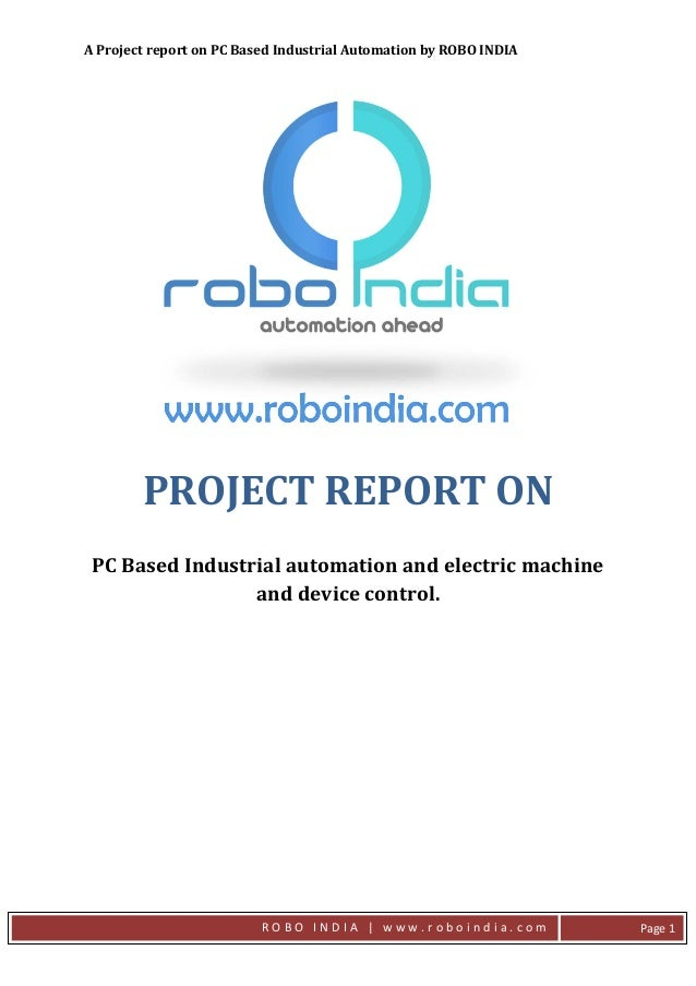 PC Based Industrial Automation With AVR Atmega 16 - Project