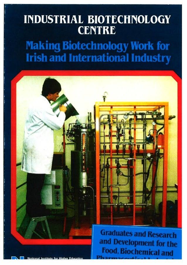 Industrial biotech unit promotional flyer