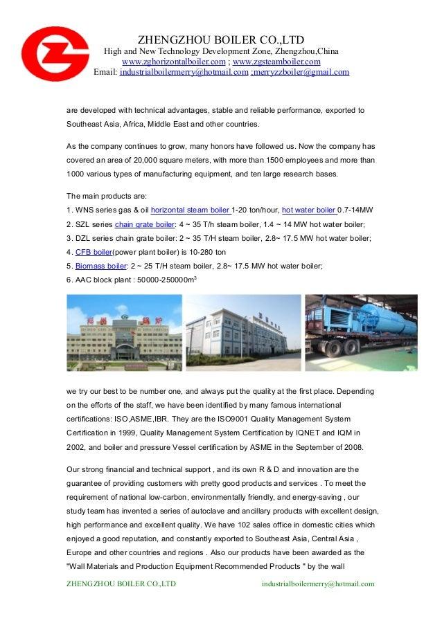 Industrial boiler fuel types