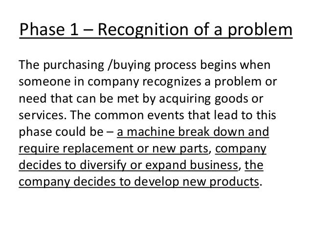 industrial buying decision process