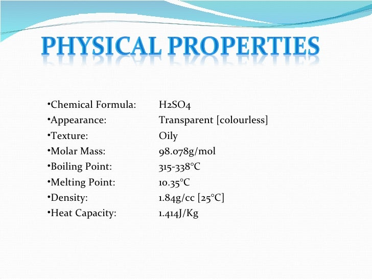 Industrial Chemistry Lecture On Sulfuric Acid Jirb