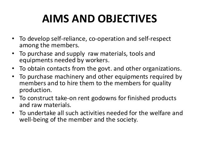 Objectives of cooperative bank