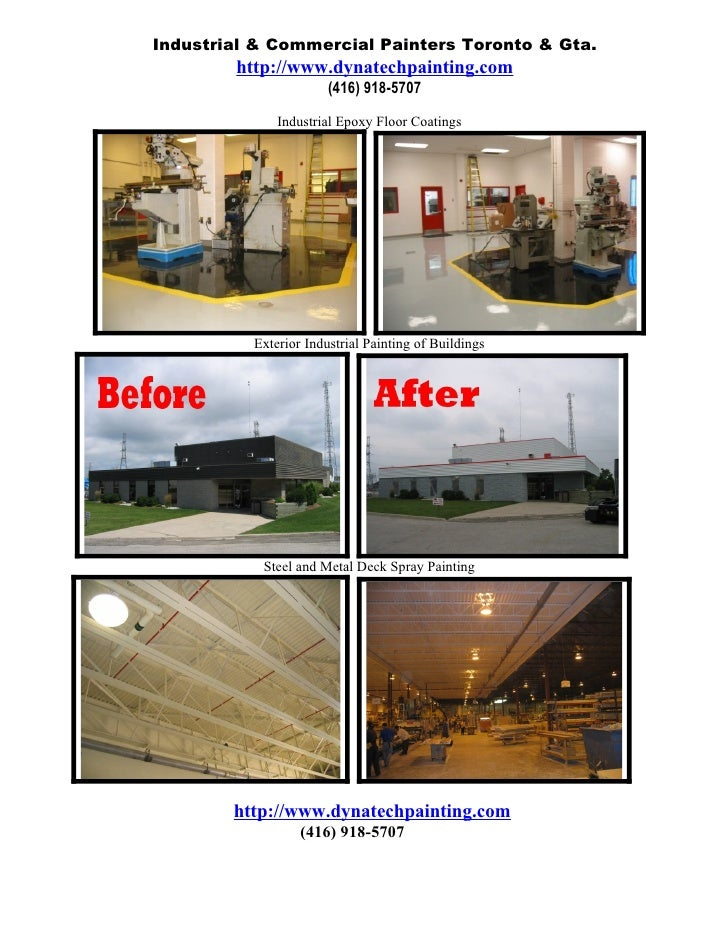 Industrial & Commercial Painters Toronto & Gta.         http://www.dynatechpainting.com                        (416) 918-5...