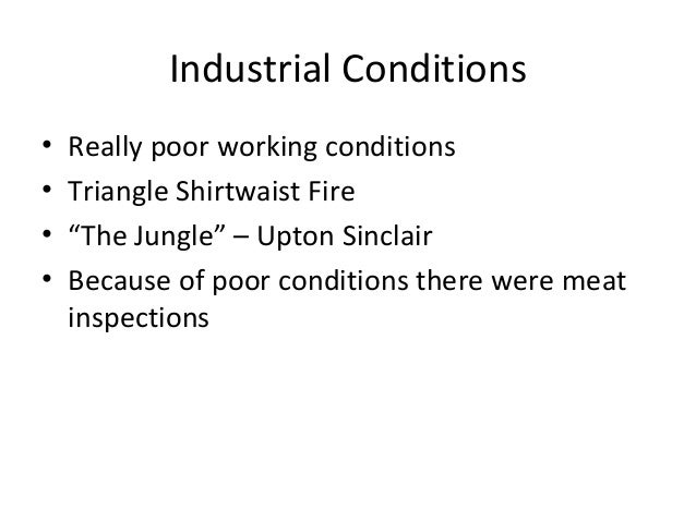 industrial conditions urban life essay Lesson plan: industrial revolution grades  us6 describe the changes in american life  step 5 provide students with instructions for both the essay and.