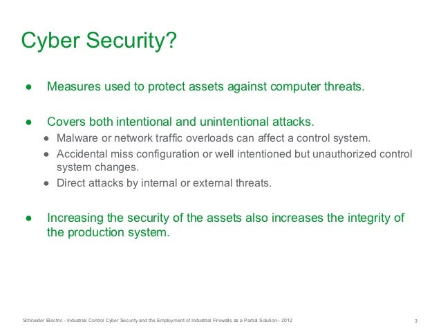 Industrial Control System Cyber Security and the Employment of Industrial Firewalls as a Partial Solution Slide 3