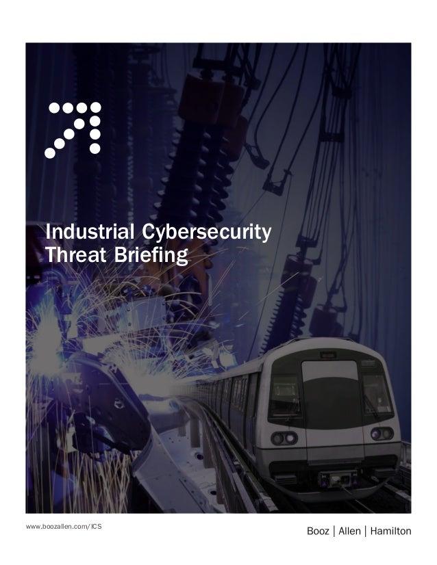 www.boozallen.com/ICS Industrial Cybersecurity Threat Briefing