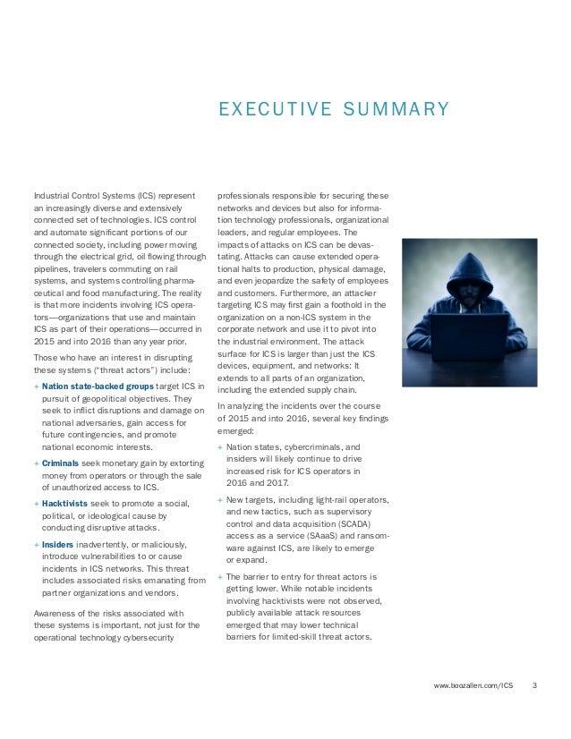 Booz Allen Industrial Cybersecurity Threat Briefing Slide 3