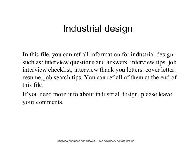 Interview Questions And Answers U2013 Free Download/ Pdf And Ppt File Industrial  Design In This ...