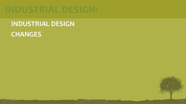 INDUSTRIAL DESIGN: INDUSTRIAL DESIGN: CHANGES Sivaraman Velmurugan 1282017-02-14