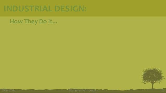 How They Do It... Sivaraman Velmurugan 202017-02-14 INDUSTRIAL DESIGN: