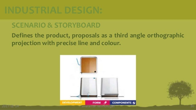 SCENARIO & STORYBOARD Defines the product, proposals as a third angle orthographic projection with precise line and colour...