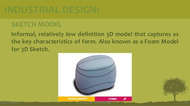 SKETCH MODEL Informal, relatively low definition 3D model that captures as the key characteristics of form. Also known as ...