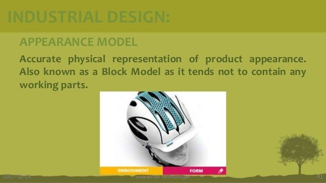 APPEARANCE MODEL Accurate physical representation of product appearance. Also known as a Block Model as it tends not to co...