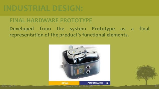 FINAL HARDWARE PROTOTYPE Developed from the system Prototype as a final representation of the product's functional element...