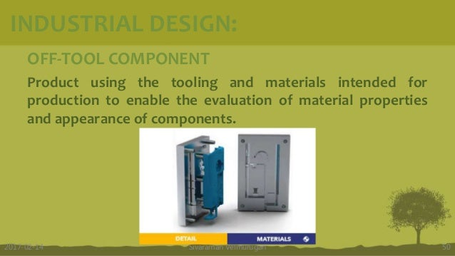 OFF-TOOL COMPONENT Product using the tooling and materials intended for production to enable the evaluation of material pr...