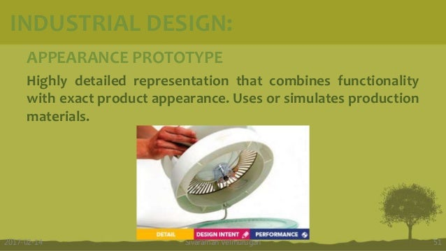 APPEARANCE PROTOTYPE Highly detailed representation that combines functionality with exact product appearance. Uses or sim...